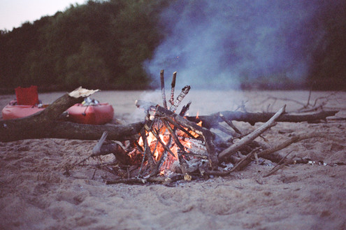 Camping somewhere on the Wisconsin River