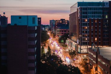 Views from downtown Madison, Wisconsin - W Johnson Street