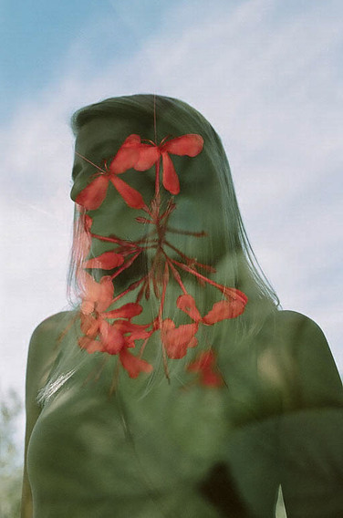 A double exposure on film in Florida