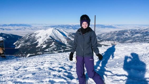 At the top of Lone Peak at Big Sky, Montana (11,000+ ft!)