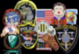 custom emblems, custom pins, custom coins.