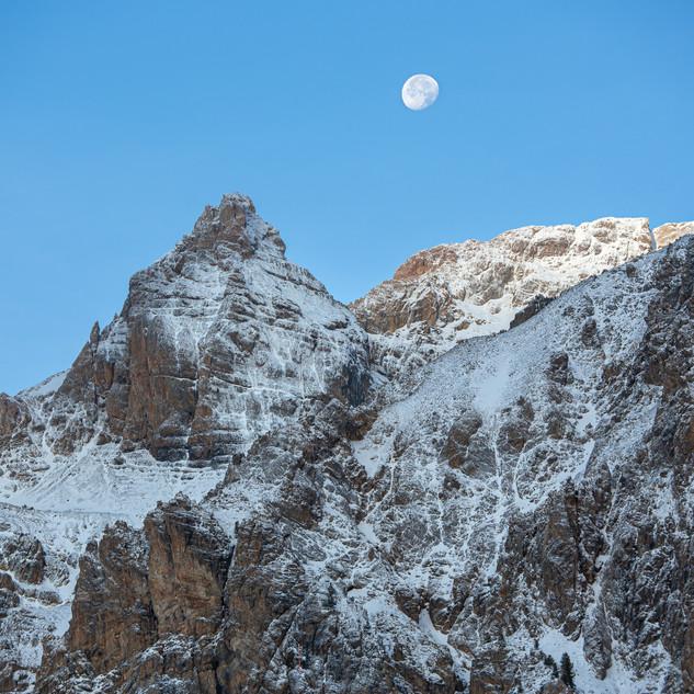 Coucher de Lune dans le Queyras