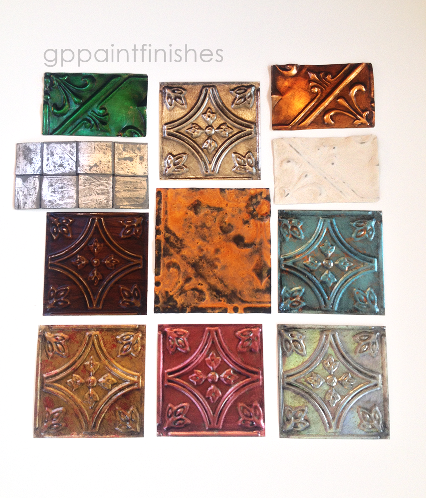 Refinished Tin Tile Samples