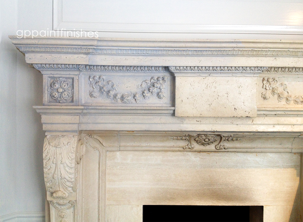 Refinished Marble Fireplace