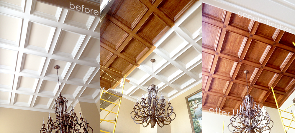 Faux Wood Library Ceiling