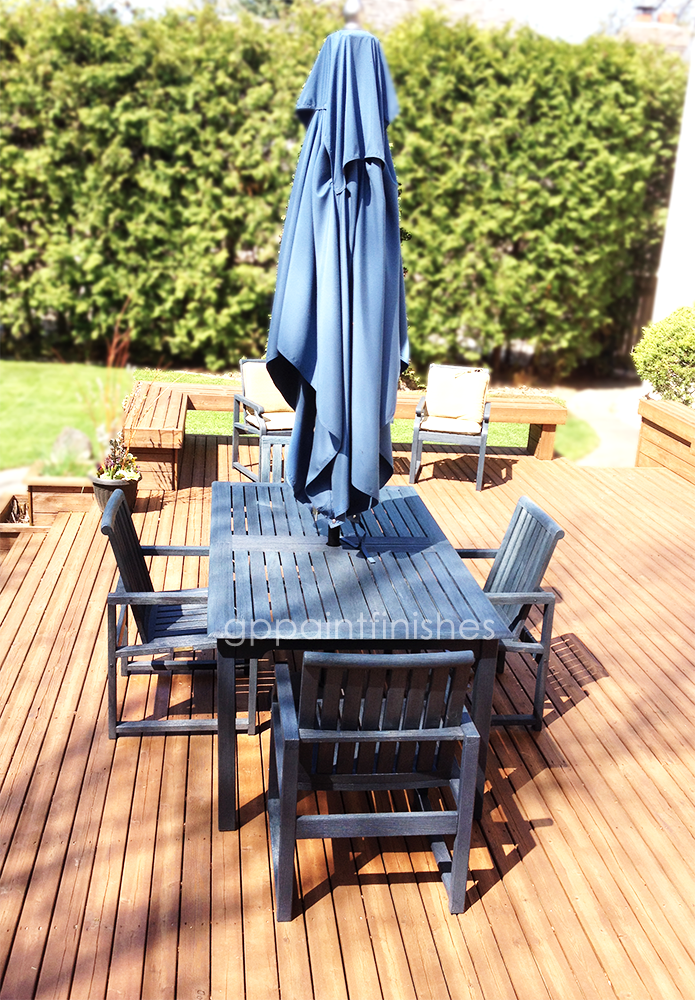 Refinished Deck Table and Chairs