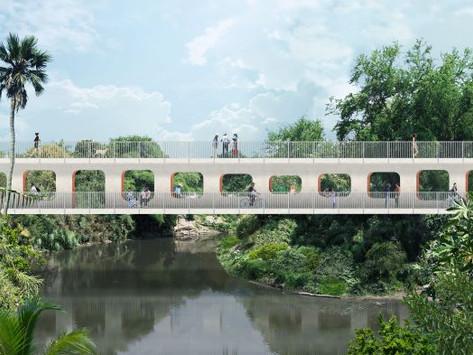 Nuevo puente en Jojutla tras los terremotos del 2017