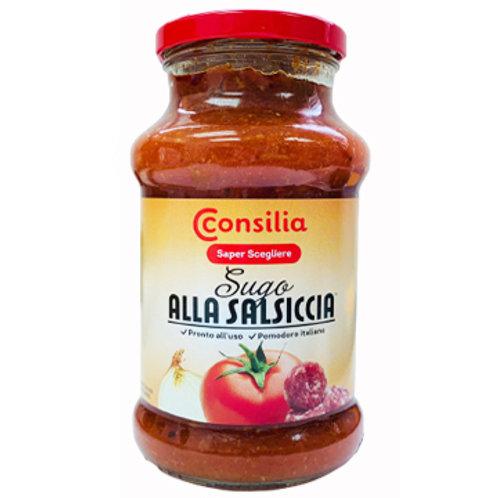 SUGO ALLA SALSICCIA - SAUSAGE  TOMATO SAUCE CONSILIA                     400GR