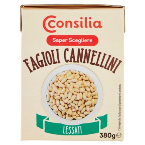 BOILED CANNELLINI BEANS                     230GR
