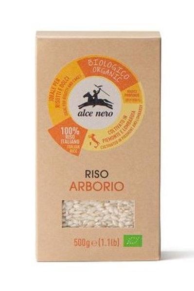 ALCE NERO ITALIAN ORGANIC RICE ARBORIO              500GR
