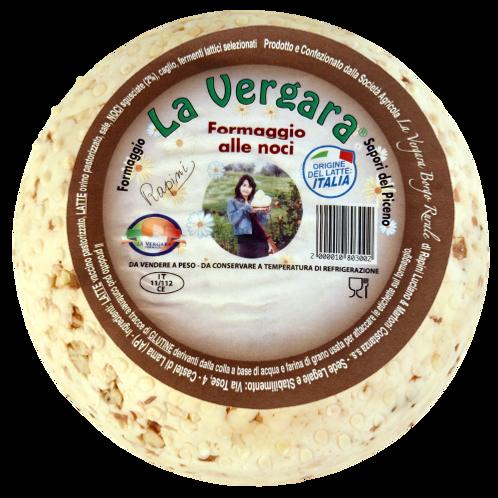 LA VERGARA  CACIOTTINA CON NOCI  -  CHEESE WITH NUTS               400GR