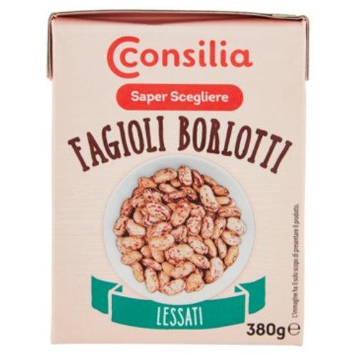 BOILED BORLOTTI BEANS 220 gr