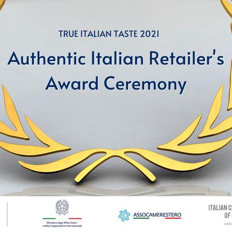 TRUE ITALIAN TASTE – Authentic Italian Retailer's Award Ceremony- Causeway Bay