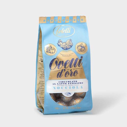 OVETTI LATTE FELETTI -  EXTRA FINE MILK CHOCOLATE EGGS                   0.150KG