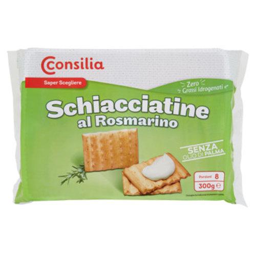 CONSILIA SCHIACCIATINE AL ROSMARINO  -  ROSEMARY CRACKER         300GR