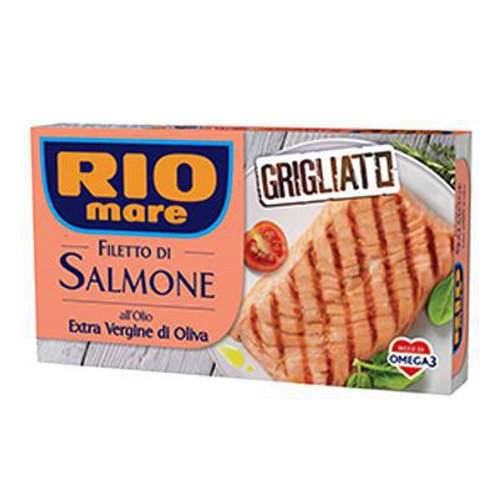 RIO MARE GRILLED SALMON FILLET WITH EXTRA VIRGIN OLIVE OIL                 125 G
