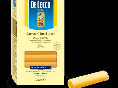 DE CECCO EGG CANNELLONI PASTA n100     250g