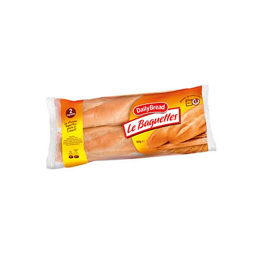 DAILYBREAD PRECOOKED BAGUETTES               300GR (2 BAGUETTES)