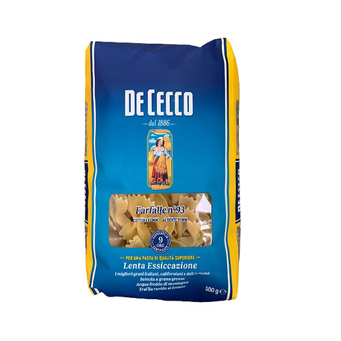 DE CECCO PASTA FARFALLE N.93               500GR