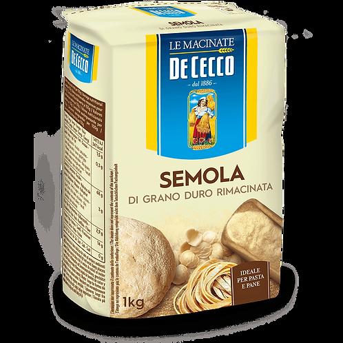 DE CECCO SEMOLA REMACINATA DI GRANO DURO REMILLED DURUM WHEAT SEMOLINAi