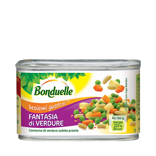 BONDUELLE FANTASIA DI VERDURE - VEGETABLE FANTASY          240GR