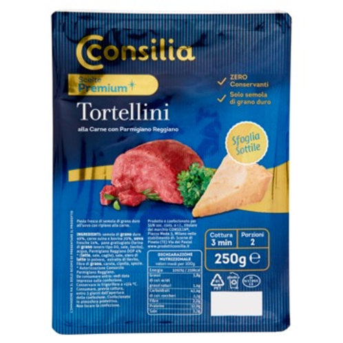 CONSILIA RICOTTA AND SPINACH TORTELLONI WITH PARMIGIANO      250GR