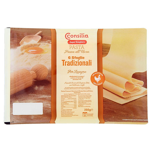 DOUGH SHEETS FOR LASAGNA CONSILIA 250 GR