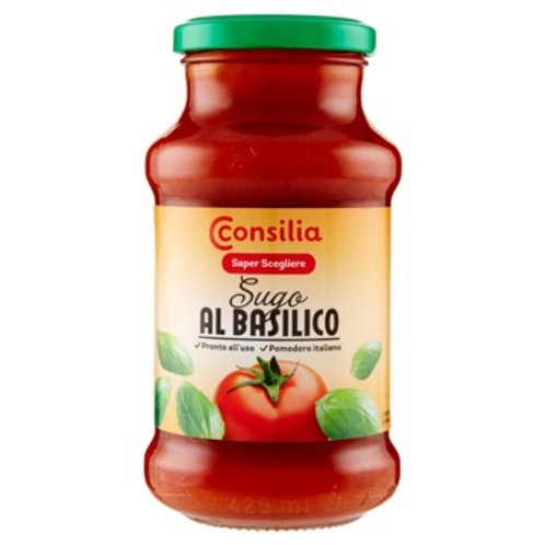 SUGO AL BASILICO - BASIL TOMATO SAUCE CONSILIA            400GR