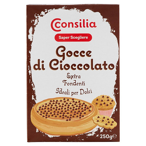 GOCCE DI CIOCCOLATO EXTRA FONDENTI / EXTRA DARK CHOCOLATE CHIPS           250GR