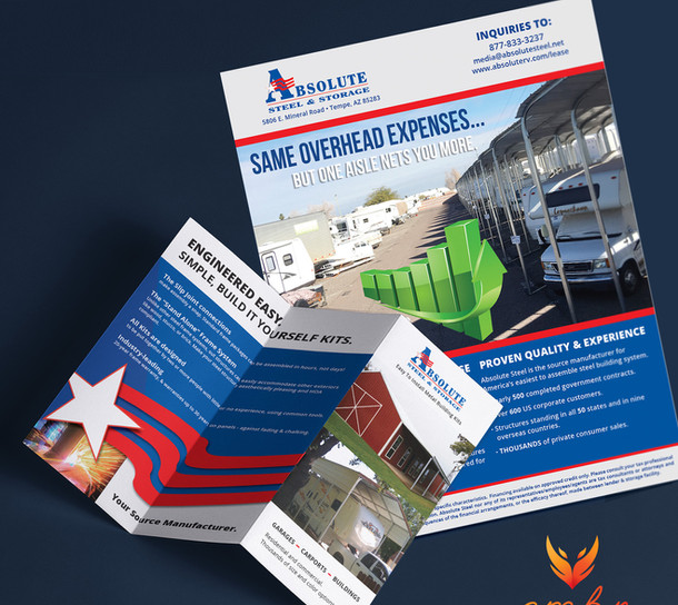 Brochure, flyer and PPT redesign