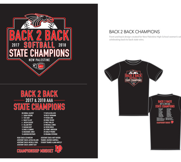 Apparal graphic - Softball Champs