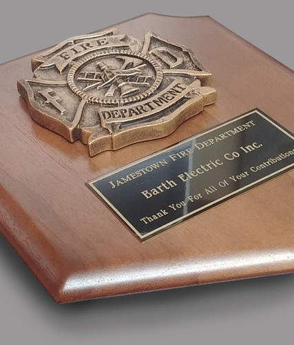 Jamestown Fire Department - plaque