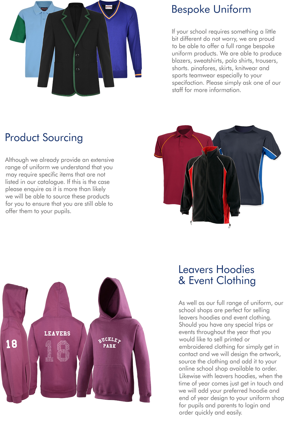 DecoSchoolwear School Uniform Supplier Services
