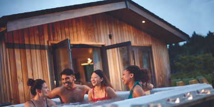 Hot tub with friends