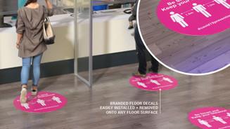 Branded floor decals