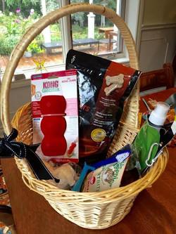 Dog themed gift basket