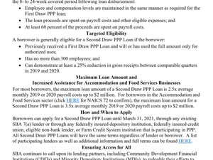 Overview of Second Draw Loans for the Paycheck Protection Program