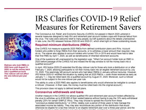 COVID-19 Retirement Plan Relief Measures