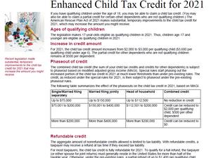 Enhanced Child Tax Credit 2021