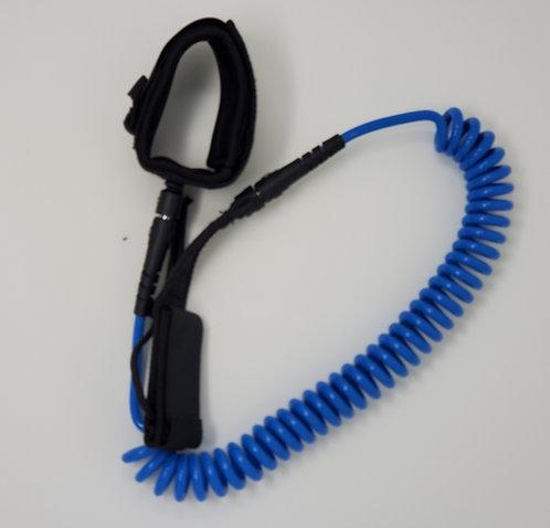 10 ft Coil Leash - Blue