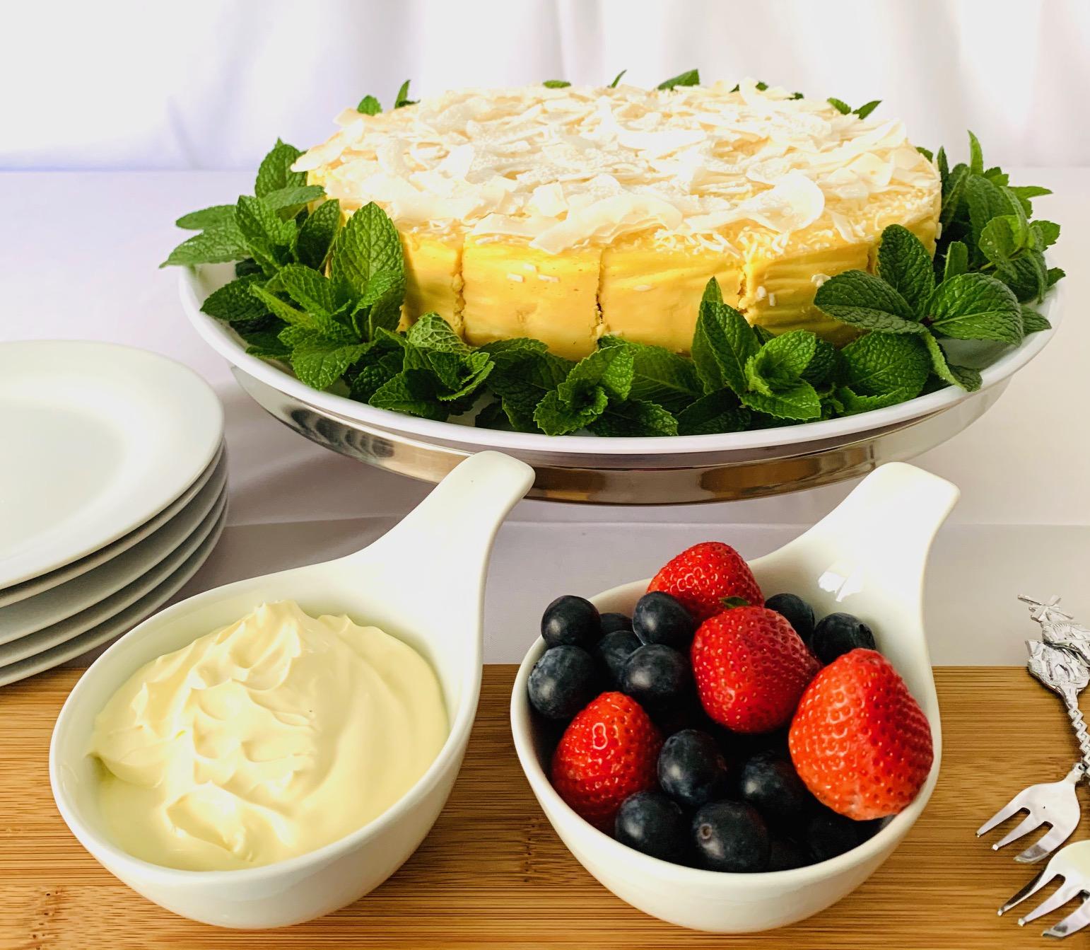 Lemon Lime Cheese Cake (GF)