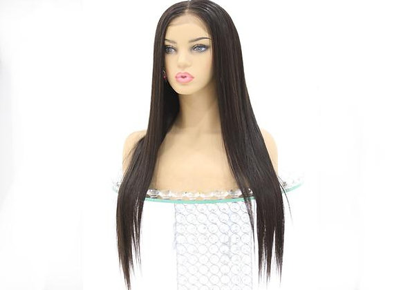Full Lace Brazilian Straight Wig - Natural Color