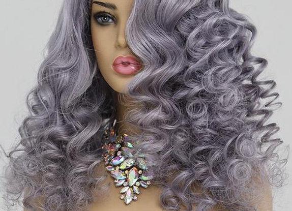 Full Lace Brazilian Straight Wig - Grey