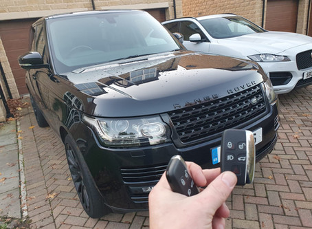 RANGEROVER KEYLESS KEY CUT AND PROGRAMMED WHILE YOU WAIT