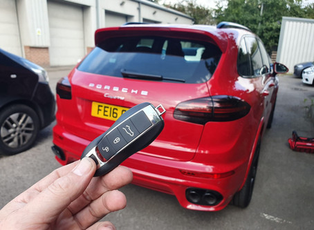 PORSCHE SMART KEY CUT AND PROGRAMMED