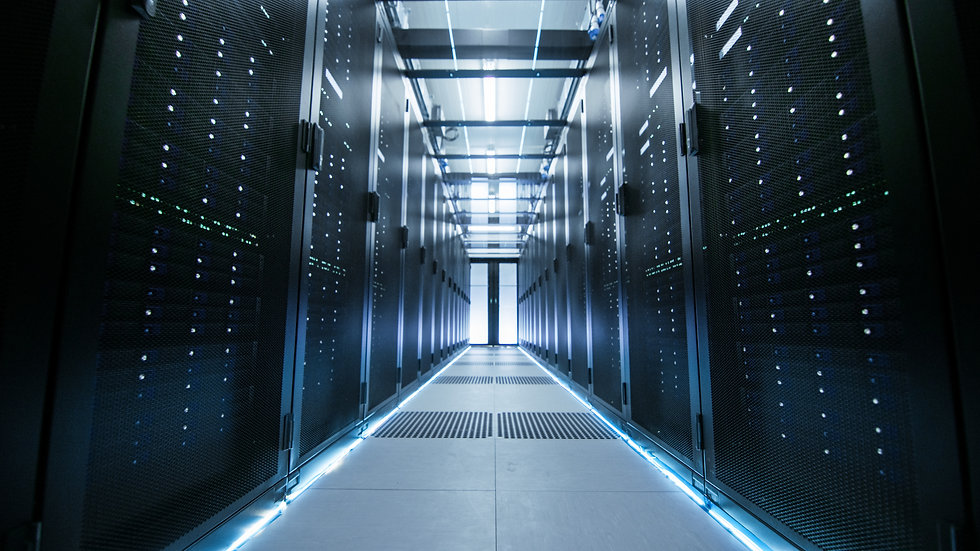 Shot of a Working Data Center With Rows