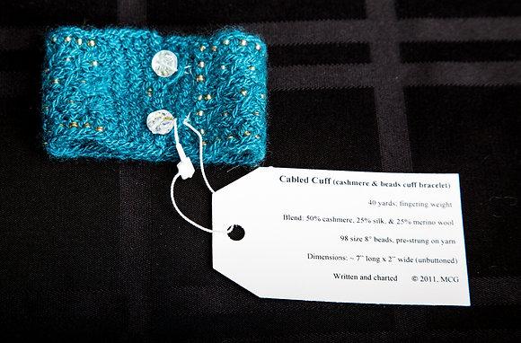 Cabled Cuff Bracelet
