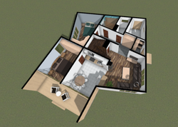 Plan variation with 2 rooms (first floor)