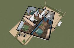 Plan maximum rooms (second floor)