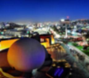 Vista de la ciudad de Tijuana de noche